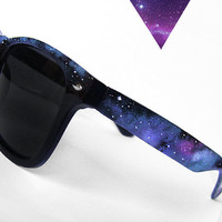 Sunglasses - Space Galaxy Nebula Custom Wayfarer style sunglasses &#x27;80s retro hand painted