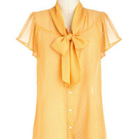 Jonquil You Be Mine? Top | Mod Retro Vintage Short Sleeve Shirts | ModCloth.com