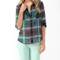 Sheer Plaid Shirt