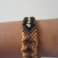 Braided Friendship Bracelet Brown Tiger