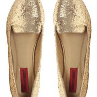 London Rebel Glitter Slipper Shoe at asos.com