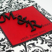 Wedding Guestbook/Album - Black & W.. on Luulla