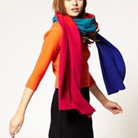 Alice Hannah | Alice Hannah Colour block scarf at ASOS