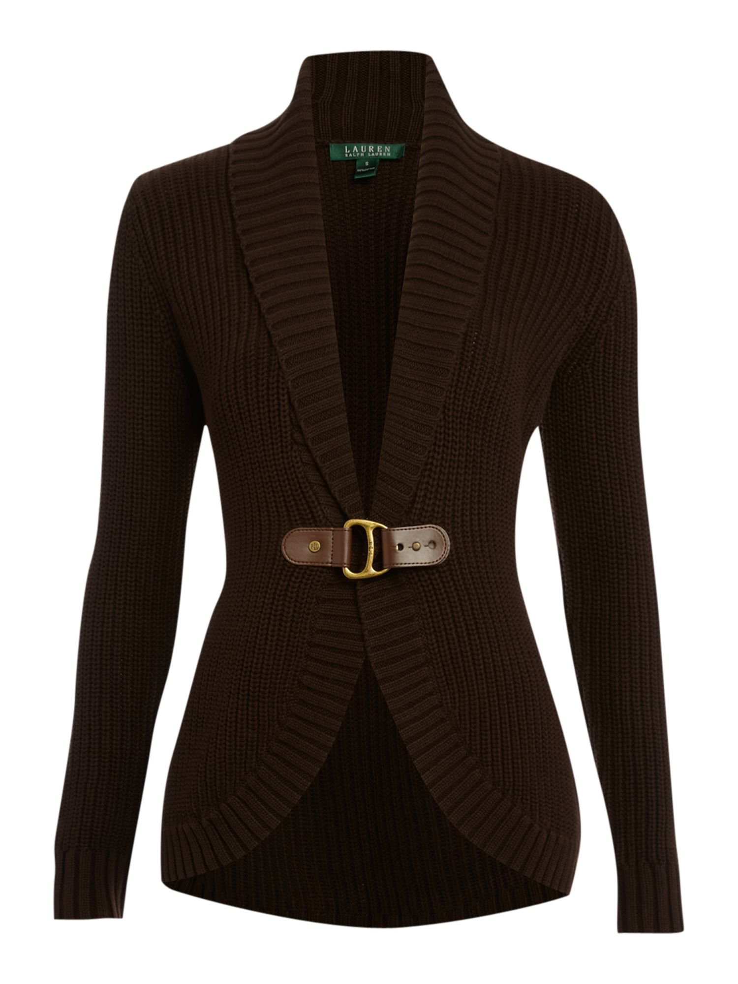 Lauren by Ralph Lauren Audey shawl collar cardigan Brown - House of Fraser