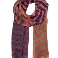 MANGO - NEW! - TOUCH - Striped wool foulard
