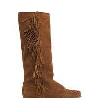 MANGO - NEW! - TOUCH - Suede fringed boots