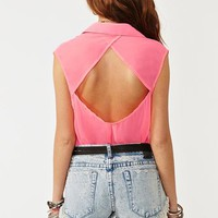 Neon Pocket Blouse