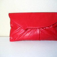 Vintage XL Red Clutch Purse