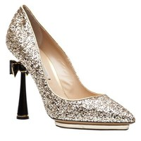 Nicholas Kirkwood Glitter Bow Pump - Hu'S Shoes - farfetch.com
