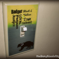Wizard Inspired  Badger House Light Switch Plate