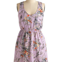 Laven-darling Dress | Mod Retro Vintage Printed Dresses | ModCloth.com