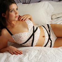 sexy lingerie set - HARLEQUIN - includes camisole and knickers