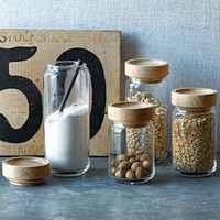 Wood + Glass Storage Jars