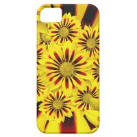 Yellow and Red Striped Gerbera Daisy iPhone 5 Case from Zazzle.com