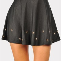 Star Studded Skirt - Black at Necessary Clothing