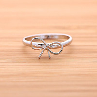 RIBBONS ring(adjustable), in silver
