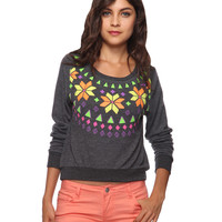 Neon Fair Isle Top | FOREVER21 - 2000035506