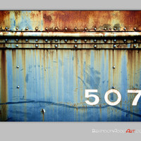 Vintage Train Print Rustic Decor Old Train Car 507