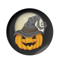 Halloween Pumpkin Plate from Zazzle.com