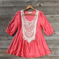 Honey & Milk Blouse in Coral, Sweet Country Inspired Clothing