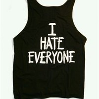 I HATE EVERYONE Favorite Unisex Tank Top - Black