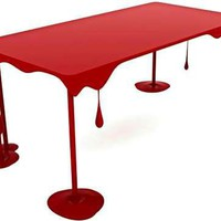 Blood-Splattered Furniture - Elias Kababie's Pint Table was Inspired by Dripping Paint