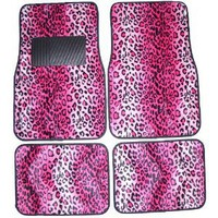 Pink Leopard Animal Print Front & Rear Carpet Car Truck SUV Floor Mats : Amazon.com : Automotive