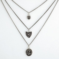 Bravery Triple Charm Wax Seal Necklace