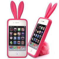 Apple iPhone4 3GS Rabbit Ear Tail Shell Skin Case
