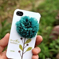 Apple iPhone 4 3GS 3D Big Flower Skin Shell Cover by gullei