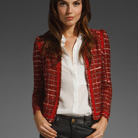 OF TWO MINDS Jaki Tweed Hue Jacket in Brick at Revolve Clothing - Free Shipping!