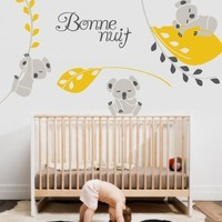 Vinyl Wall Sticker Decal Art  Koala Nighty Night by urbanwalls