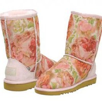 Romantic Flower Classic Short UGG Boots [5825 Rose] - $76.69 :