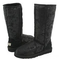 Black Tall Baroque UGG Boots [5852-Black] - $128.88 :
