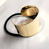 Gold Cuff Hair Tie from Trend Shop