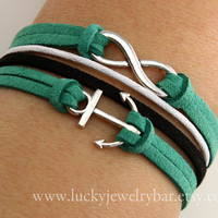 Infinity Bracelet, Anchor bracelet, leather bracelet, Wonderful gift