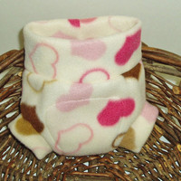 Fleece Soaker - Newborn Fleece Diaper Cover - Hearts