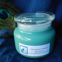 Blue Spruce Scented Soy Candle in Apothecary Jar