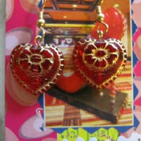 Vintage Hearts Earrings