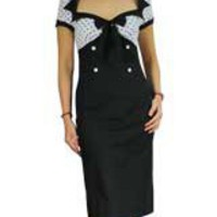 Plus Size Polka-dot Pencil Wiggle Dress