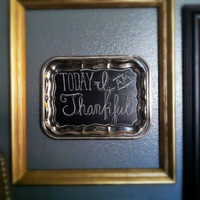 SALE: 35% OFF the ENTIRE shop - Repurposed Vintage Silver Tray Chalkboard
