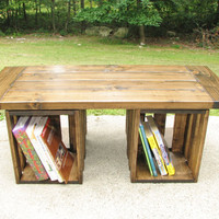 Coffee Table, Rustic, Crate, Storage, Country, Modern
