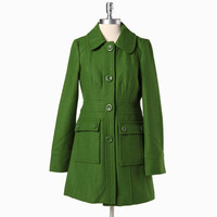 secret ballad coat in clover by Tulle - $97.99 : ShopRuche.com, Vintage Inspired Clothing, Affordable Clothes, Eco friendly Fashion