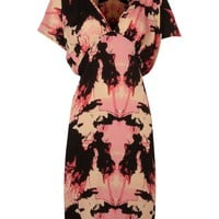 Vila Scoop back frilled dress Coral - House of Fraser