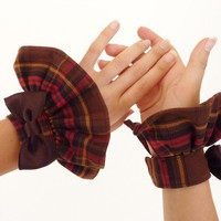 Steampunk Plaid Cuffs by Mademoiselle by mademoisellemermaid