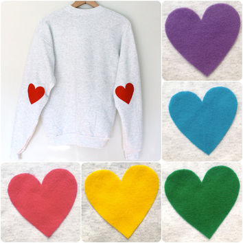 Elbow Heart Sweatshirt - multi colors