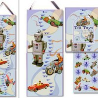 Tin Toys Growth Chart - Dolce Mia Vintage Everyday Beauty, Gifts & Stationery