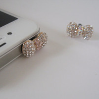 Cutie Bling Bow - iPhone earphone plug dust plug