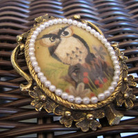Vintage OWL Brooch or Pendant by nikkisuniques on Etsy