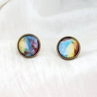 GALAXY EARRINGS - hipster universe space nebula cosmic new age
